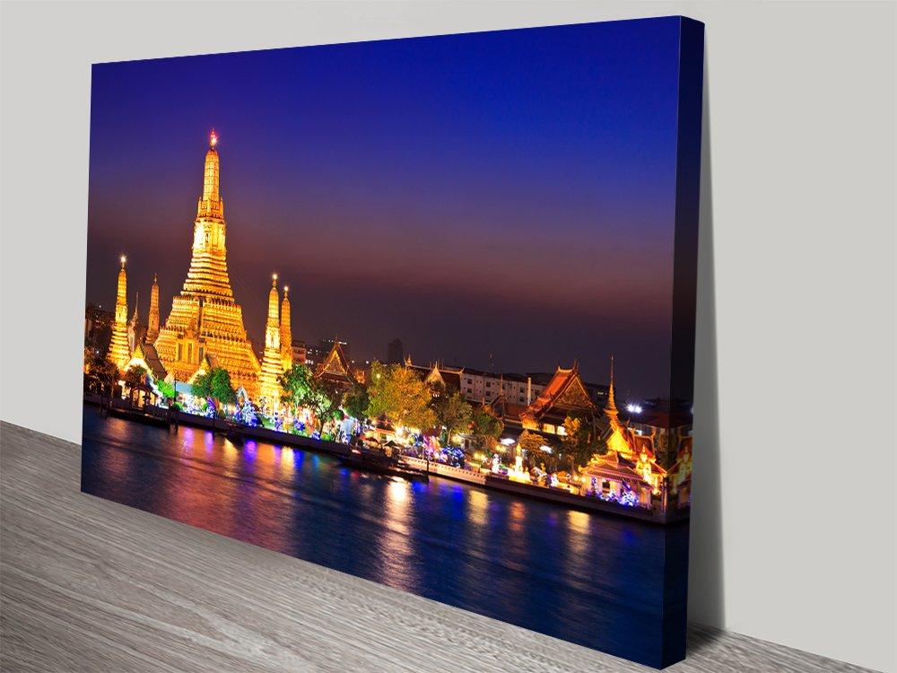 Wat Arun Temple Print on Canvas Cheap Online
