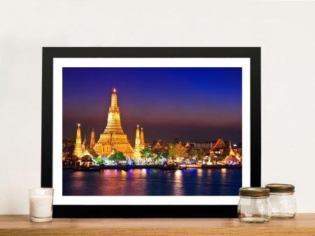 Wat Arun Temple Bangkok Framed Wall Print