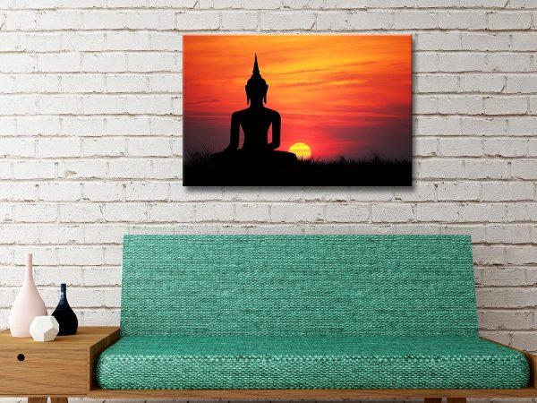 Buddha Sunset Canvas Art Sydney