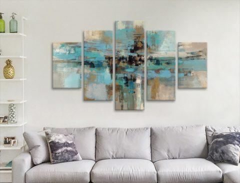 Silvia Vassileva 5-Panel Abstract Art for Sale