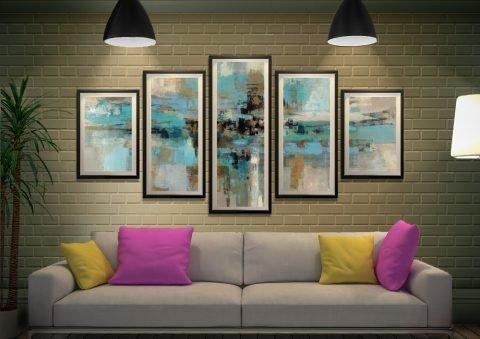 Morning Fjord Framed Split Panel Wall Art
