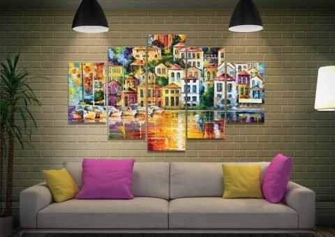 Affordable Split Panel Leonid Afremov Art
