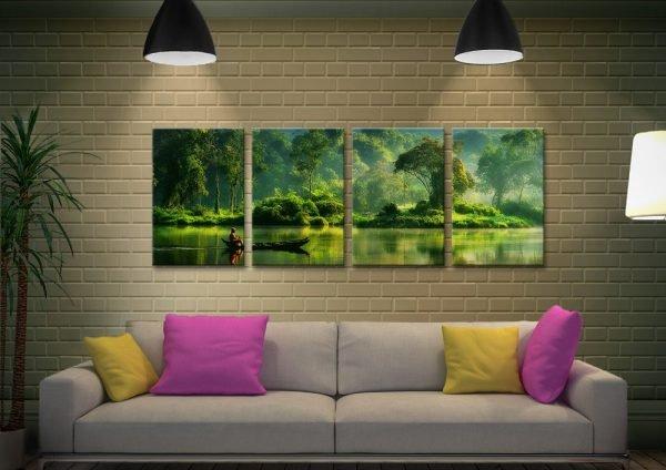 Buy Jungle Lifeline 4-Piece Landscape Art
