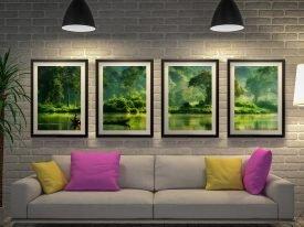 Jungle Lifeline Framed Quad Set of Prints