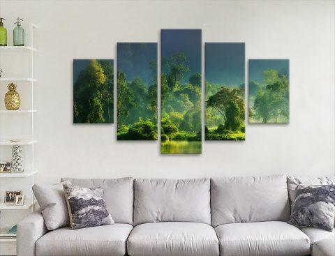 Rainforest Landscape Split Panel Art for Sale