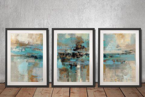 Morning Fjord Silvia Vassileva 3 Piece Prints On Canvas