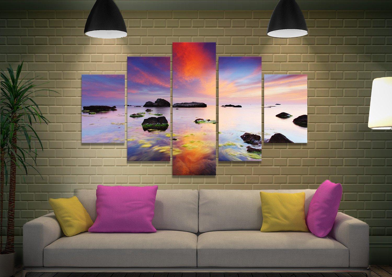 Perfect Sunrise Split Diamond Seascape Art