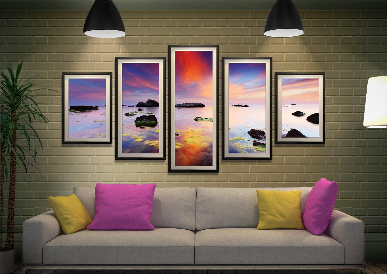 Perfect Sunrise Framed Split-Panel Artwork