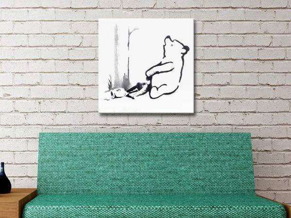 Buy a Ready to Hang Banksy Pooh Bear Print