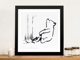 Buy a Framed Banksy Pooh Bear Graffiti Print