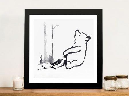 Buy a Framed Banksy Pooh Bear Graffiti Print