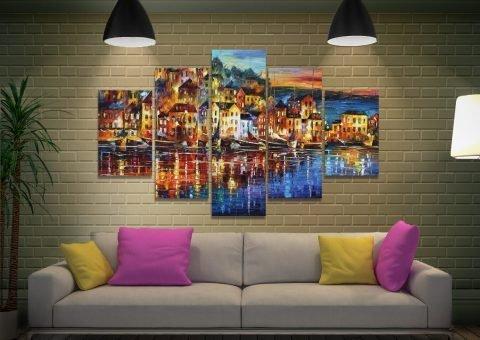 Quiet Town by Leonid Afremov for Sale AU