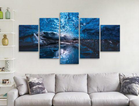 Skaftafell Ice Cave 5-Panel Canvas Set