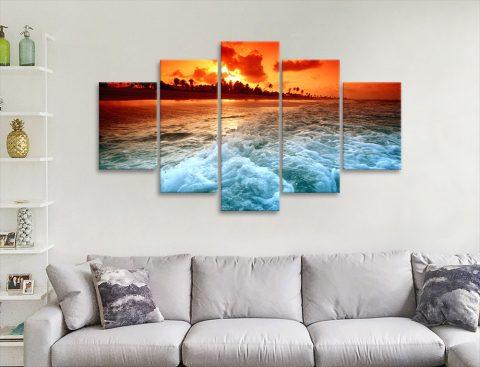 Sunset Churn Affordable Split Panel Art AU