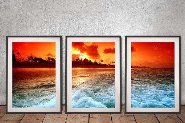 Sunset Churn Framed 3-Piece Art Set Online