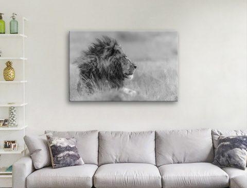 King Lion Canvas Artwork