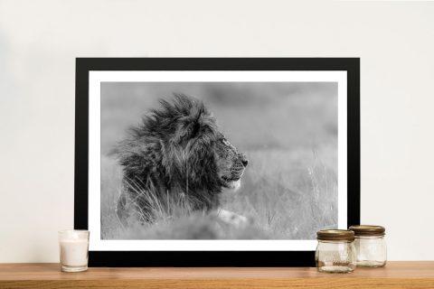 King Lion Framed Wall Art