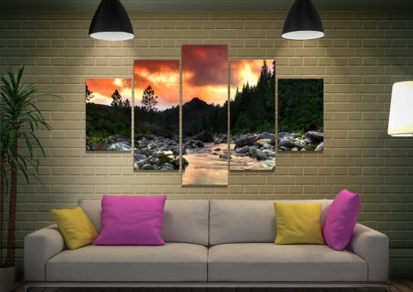 The Peaceful Woods Affordable Wall Art AU