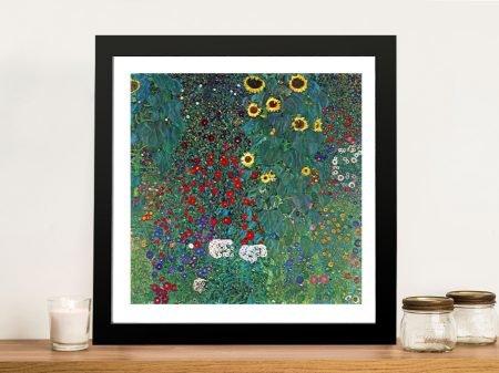 Buy a Farm Garden with Sunflowers Fine Art Print