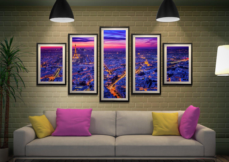 Paris at Dusk Multi Panel Set Affordable Art AU