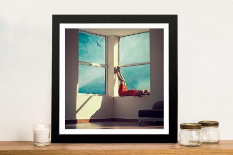 Buy a Framed Print of Reclining Window