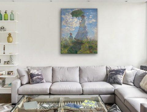 Woman With A Parasol Monet Print Gift Ideas AU