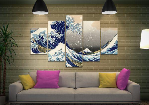 Hokusai Split-Diamond Japanese Art for Sale