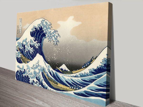Hokusai A big wave off Kanagawa canvas print