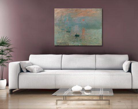 Buy Monet Impression Sunrise Canvas Art Print