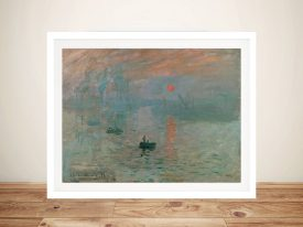 Monet Impression Sunrise Soleil Levant Framed Wall Art Australia