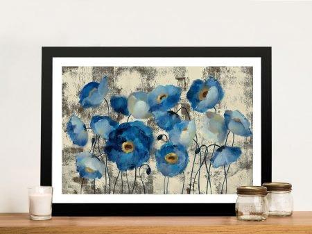 Aquamarine Silvia Vassileva Floral Framed Wall Art