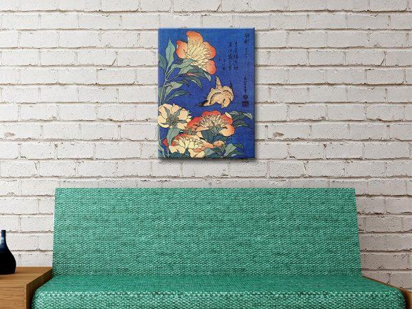 Buy Hokusai Flowers High-Quality Canvas Art