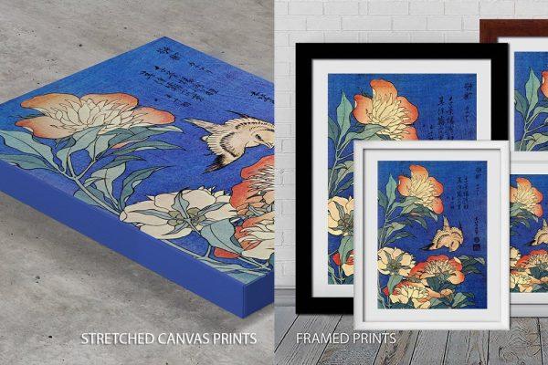 Hokusai Flowers Quality Print