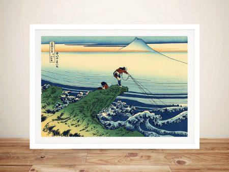 Hokusai Kajikazawa in Kai province Framed Wall Art