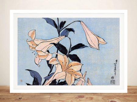 Buy a Hokusai Lilies Japanese Wall Art Print