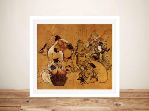 Seven Gods of Fortune Classical Japanese Art Online