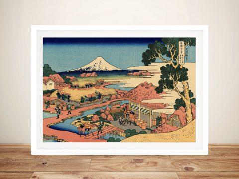 Hokusai The Tea Plantation Framed Wall Art