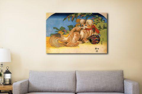 Buy Tschin the Pet Dog Cheap Canvas Prints AU