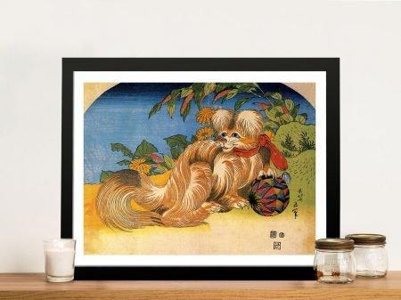 Buy Tschin the Pet Dog Cultural Art by Hokusai