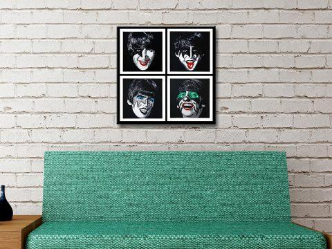 Buy Kiss the Beatles Unique Wall Art Online