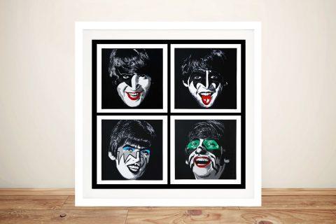 Buy a Kiss the Beatles Mr Brainwash Print