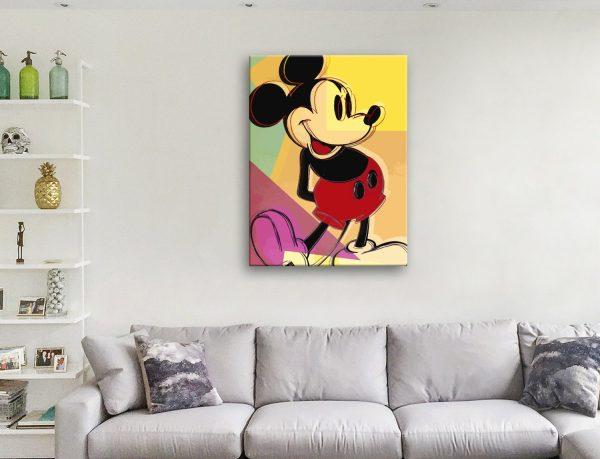 Mickey Mouse Warhol Pop Art Canvas Artwork