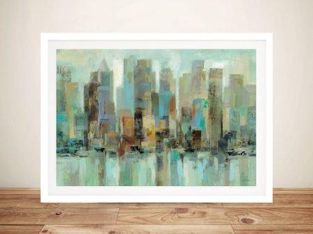Morning Reflections Abstract City Skyline by Silvia Vassileva