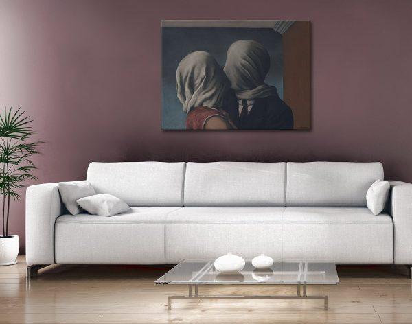 René Magritte The Lovers Canvas Artwork