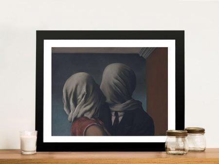 René Magritte The Lovers Framed Wall Art Australia
