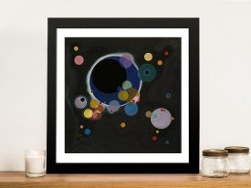 Several Circles by Wassily Kandinsky Framed Wall Art