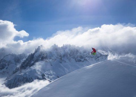 Snowboarder mountain wall art print