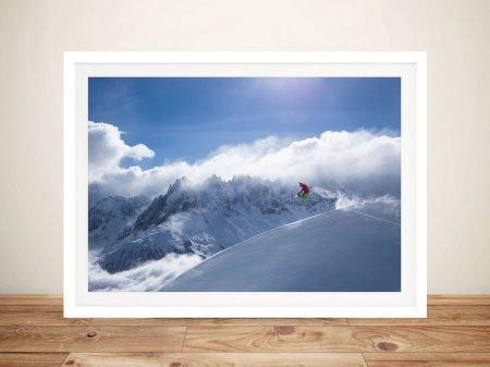 Snowboarder Framed Wall Art