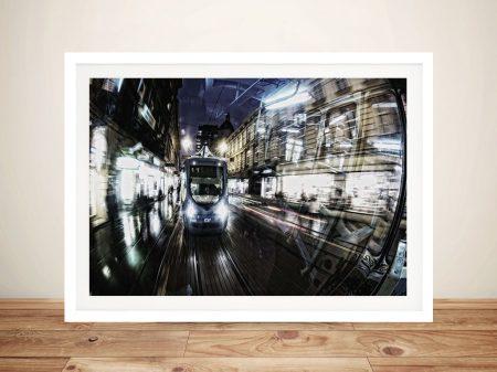 Buy a Framed Motion Art Print of Speeding Metro