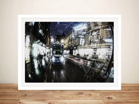 Buy a Framed Motion Art Print of Speeding Metro